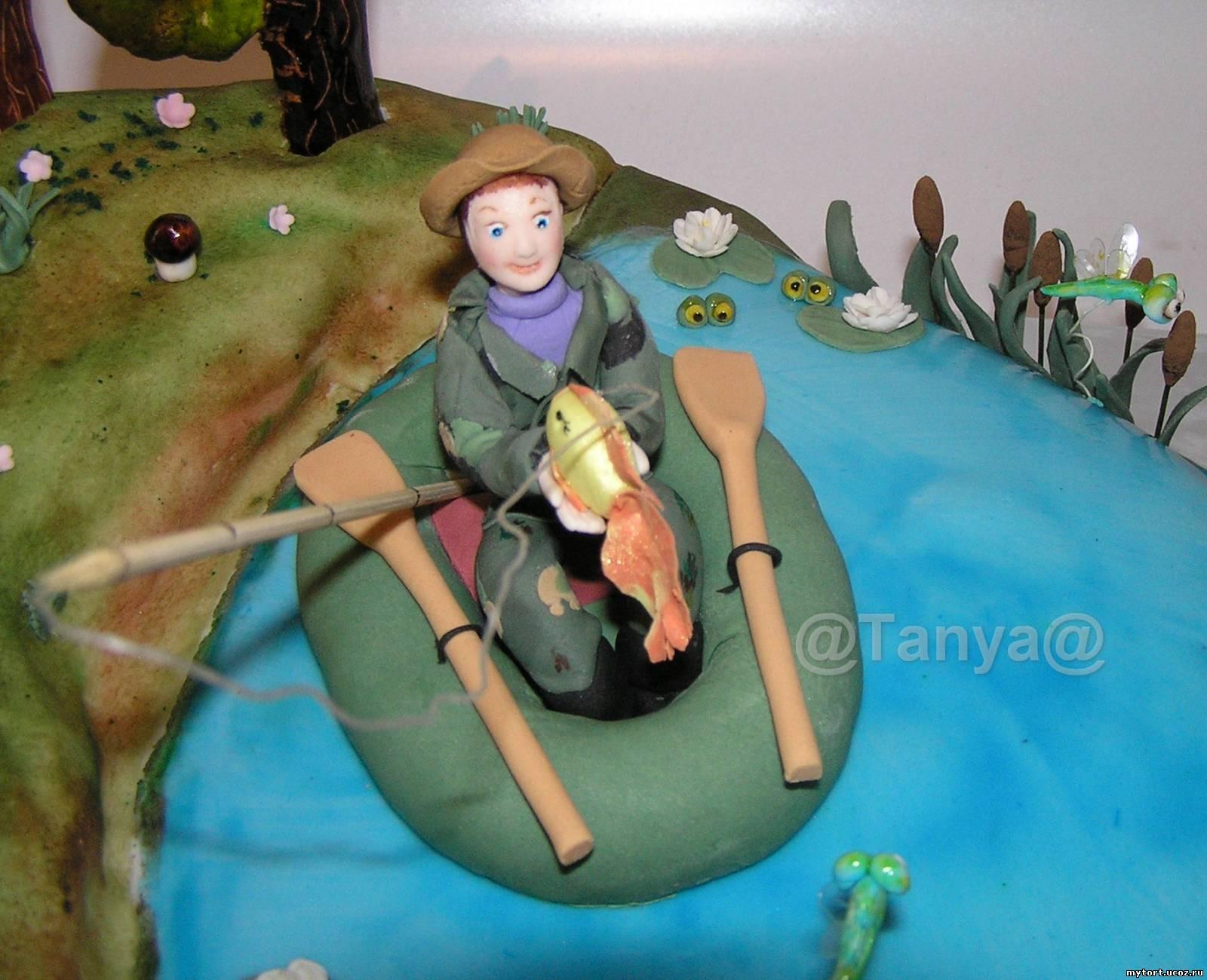 Как сделать торт лодка с рыбаком
