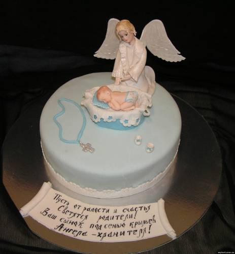 Торт ангел хранитель